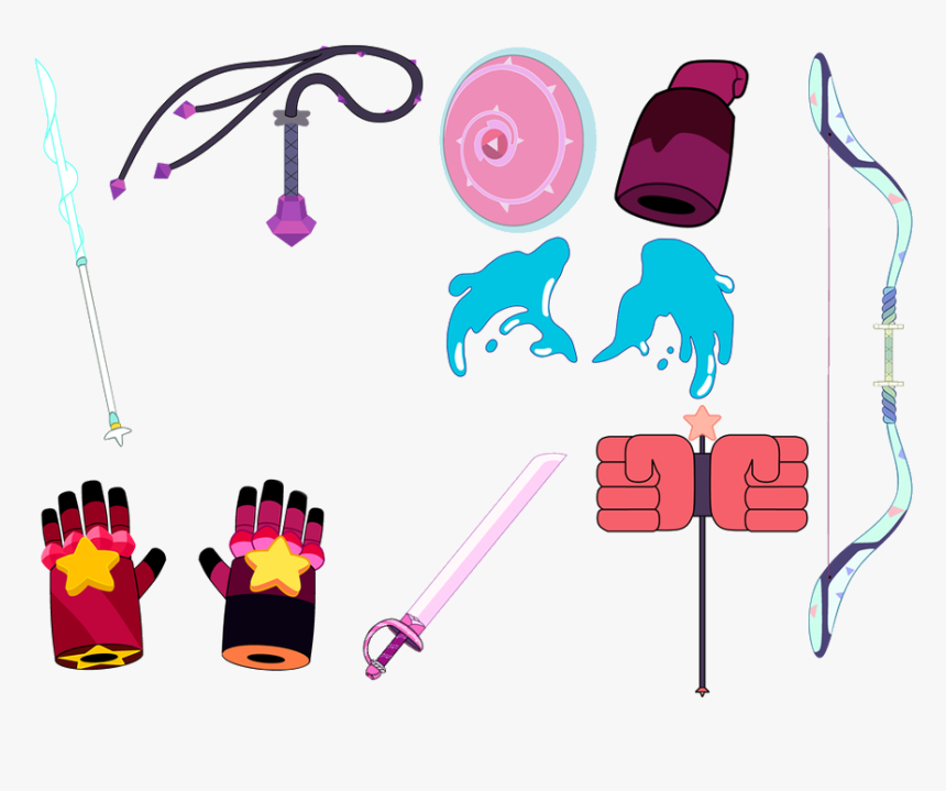 Gems Clipart Real Crystal - Steven Universe Gems Weapons, HD Png Download, Free Download