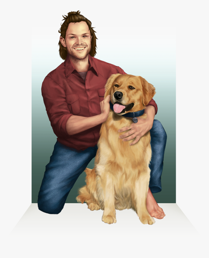 Dean And Cas At The Finish Line - Golden Retriever, HD Png Download, Free Download