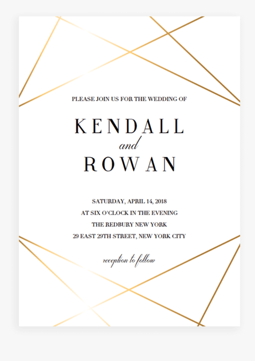 Modern Wedding Invitation Template Triangle Hd Png Download Kindpng