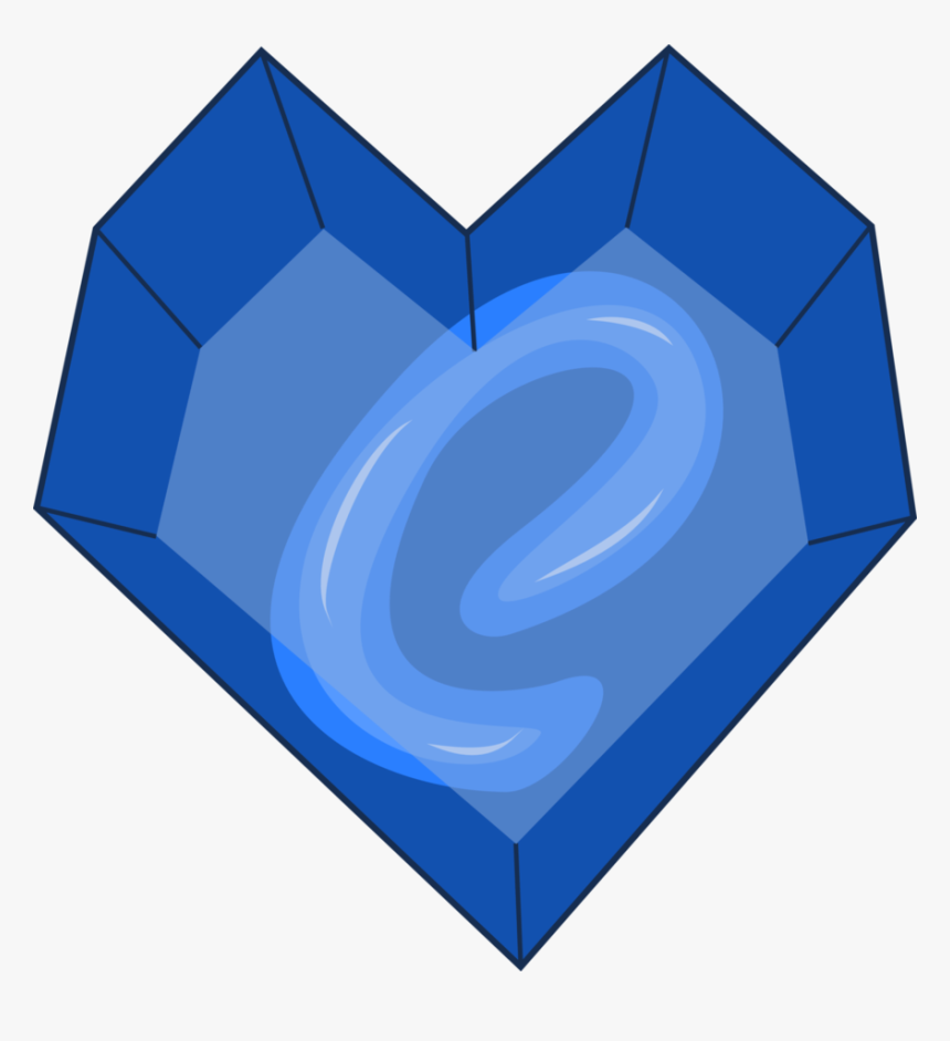 Transparent Sapphire Png - Cutie Mark Blue Heart, Png Download, Free Download