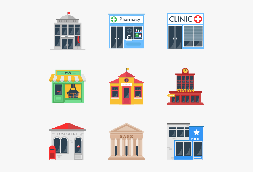 Building Collection - Coffee Shop Vector Png, Transparent Png, Free Download