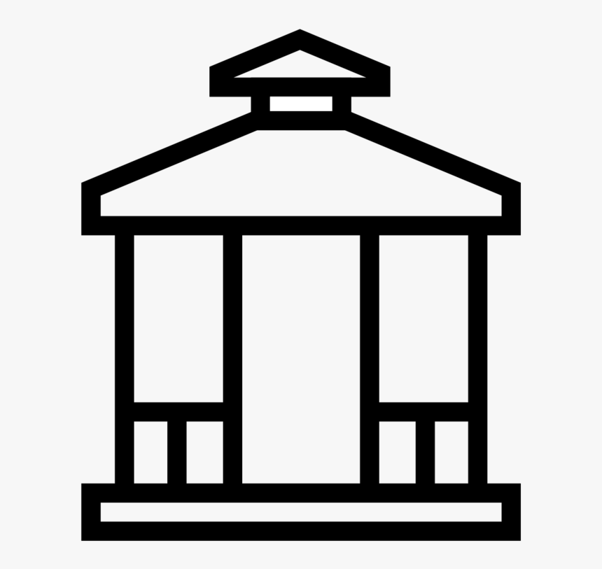 Gazebo Icon-07 - Building Vector Icon, HD Png Download, Free Download