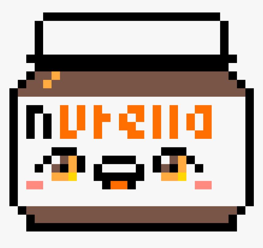 Nutella Pixel Art Png Download Pixel Art Kawaii Nutella Transparent Png Kindpng