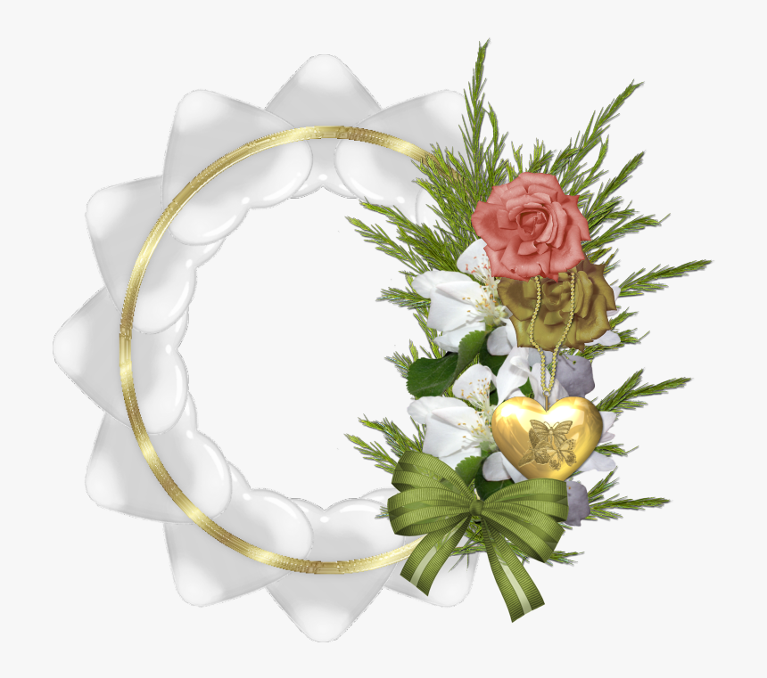 Rose And Heart Png Frame, Transparent Png, Free Download