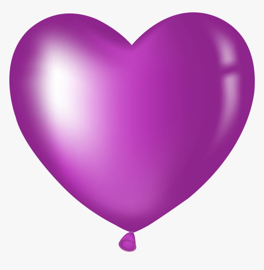 Pin By Jacqueline Anderson On Purple - Purple Heart Balloon Clipart, HD Png Download, Free Download