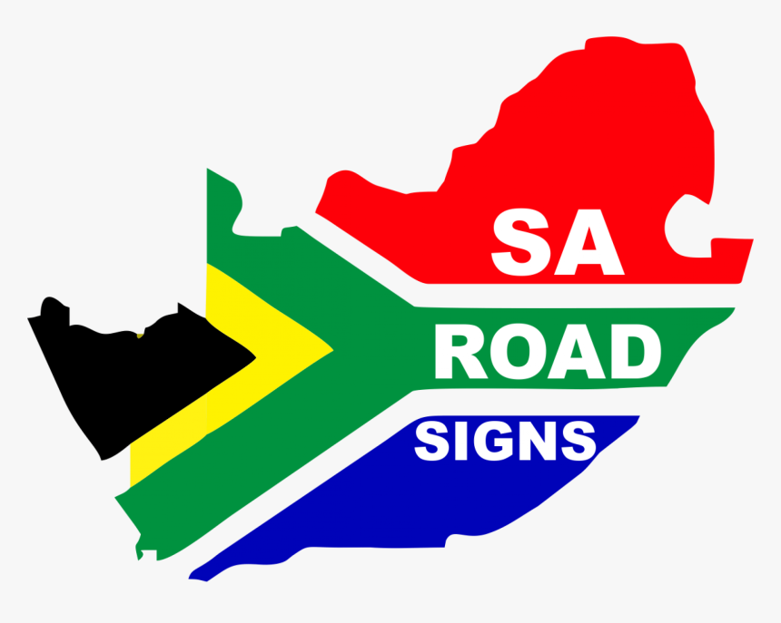 Cropped Sa Road Signs A2 2 - South Africa Map Flag, HD Png Download, Free Download