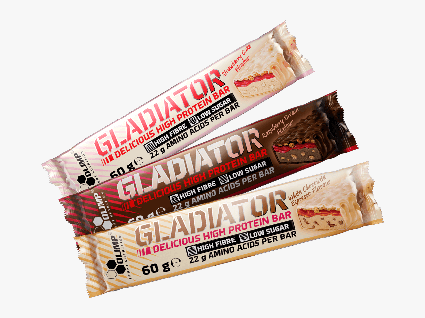 Gladiator High Protein Bar - Olimp, HD Png Download, Free Download