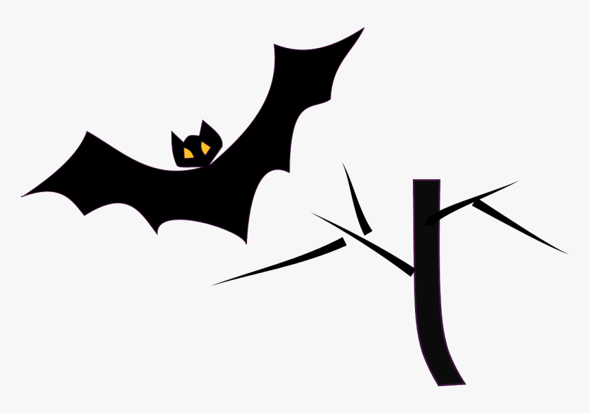 Bats Clipart Black And White, HD Png Download, Free Download