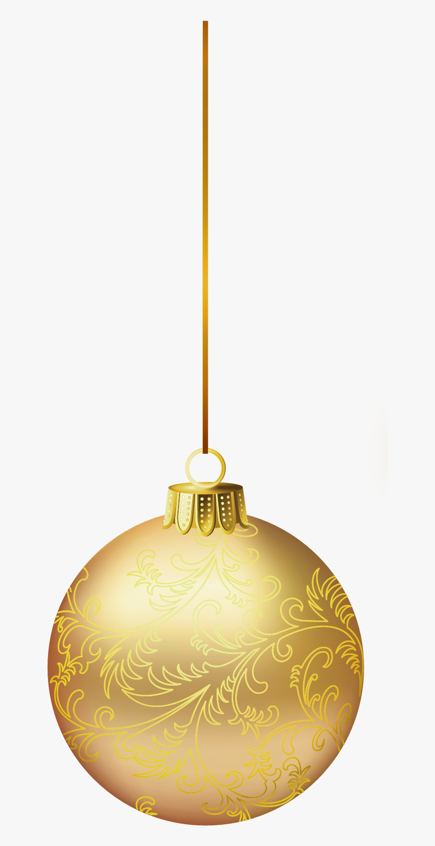 Gold Christmas Png Picture - Gold Christmas Ball Png, Transparent Png, Free Download