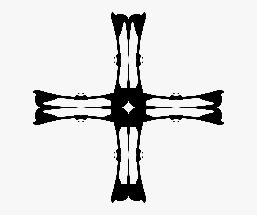 Cross, Church, Silhouette - Christian Cross, HD Png Download, Free Download