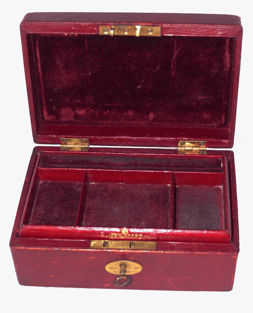 Antique Red Leather Jewellery Box Transparent Image - Jewelry Box Transparent Background, HD Png Download, Free Download