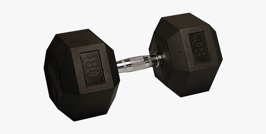 75 Lbs Rubber Hex Dumbbells, HD Png Download, Free Download