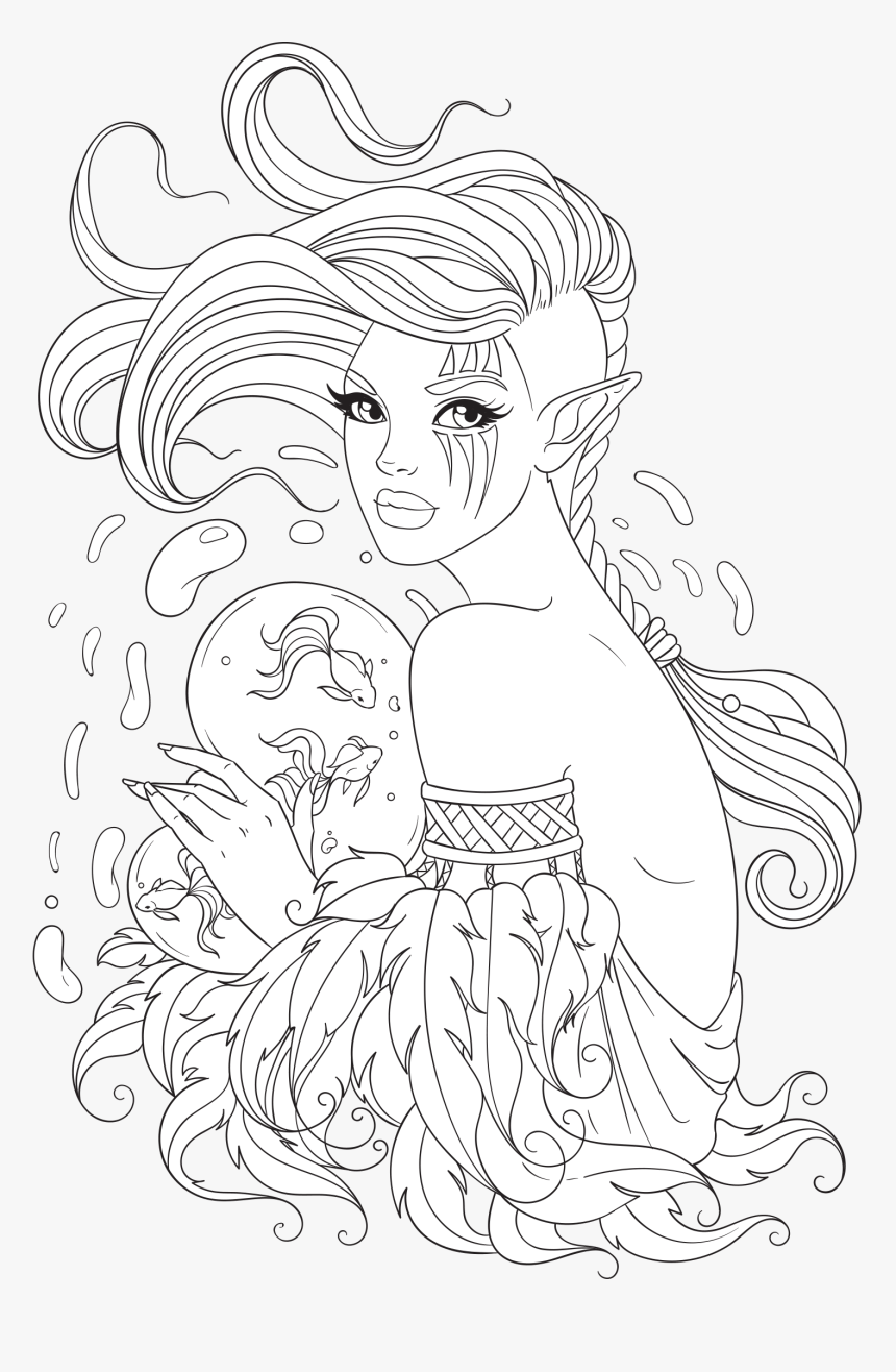 Free Adult Coloring Page - Png Coloring Pages, Transparent Png, Free Download