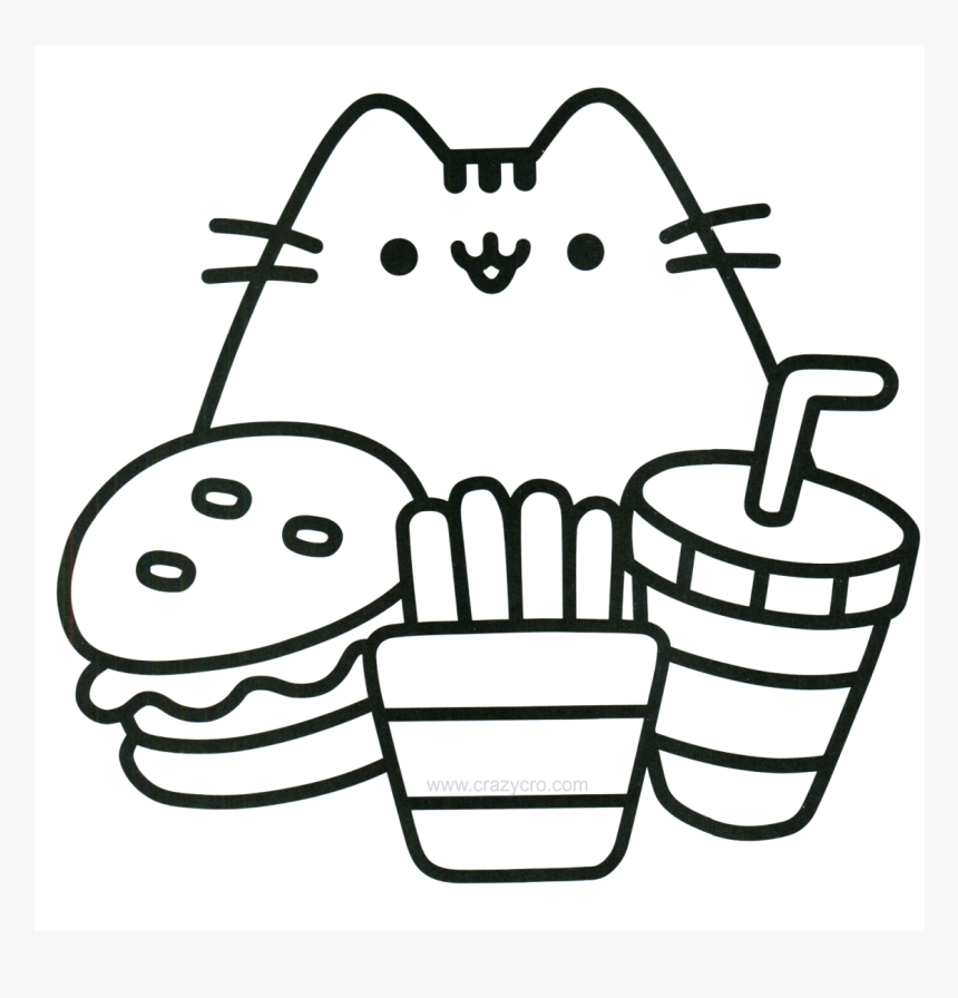 Cat With Food Coloring Page - Easy Cool Coloring Pages, HD ...