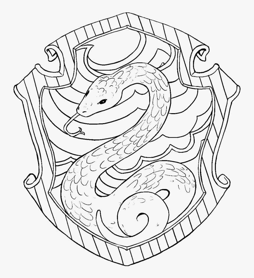 Transparent Hedwig Png - Slytherin Harry Potter Coloring Pages ...