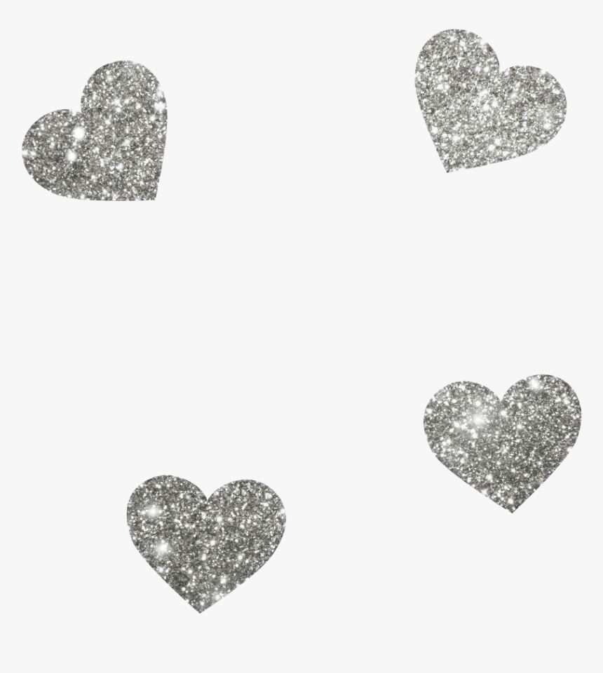 Transparent Silver Heart Png - Silver Glitter Hearts Png, Png Download, Free Download