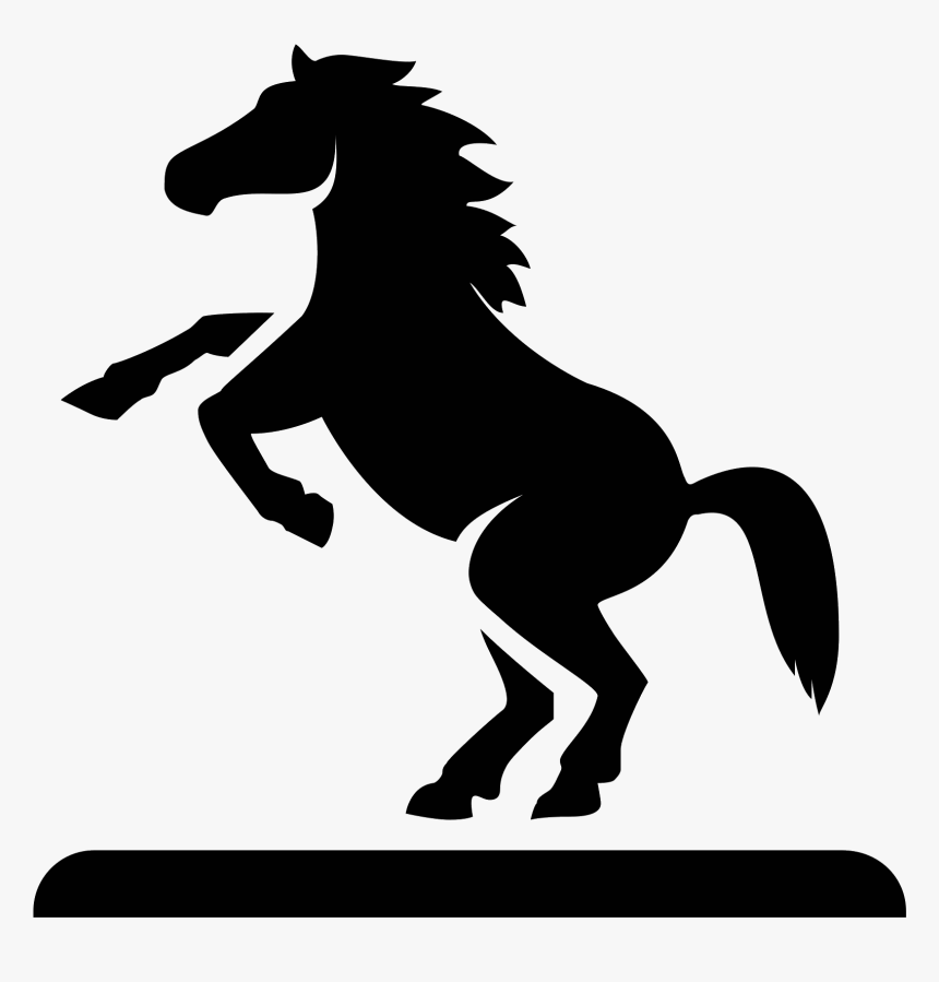 Png Clipart White Horse Hind Legs - Horse Picture For Silhouette, Transparent Png, Free Download