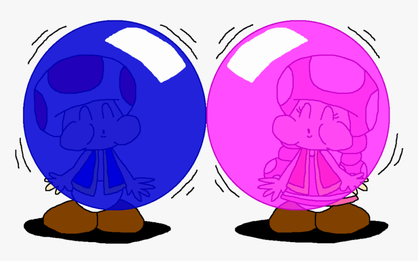 And Toadette Blows More Color Bubbles By - Toadette, HD Png Download, Free Download