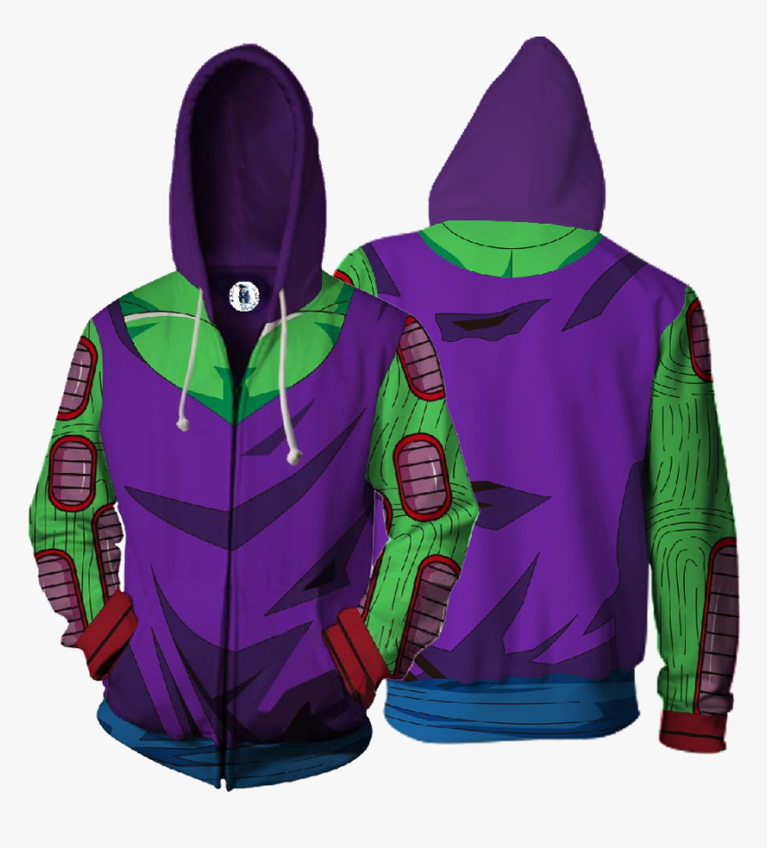 Dragon Ball Z Piccolo Cosplay Zip Up Hoodie Jacket - Judge Zip Up Hoodie, HD Png Download, Free Download