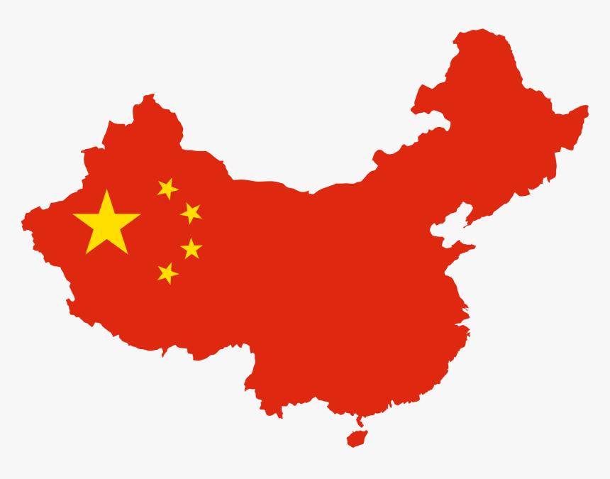 China Map Flag Clip Arts - China Country Shape Flag, HD Png Download, Free Download