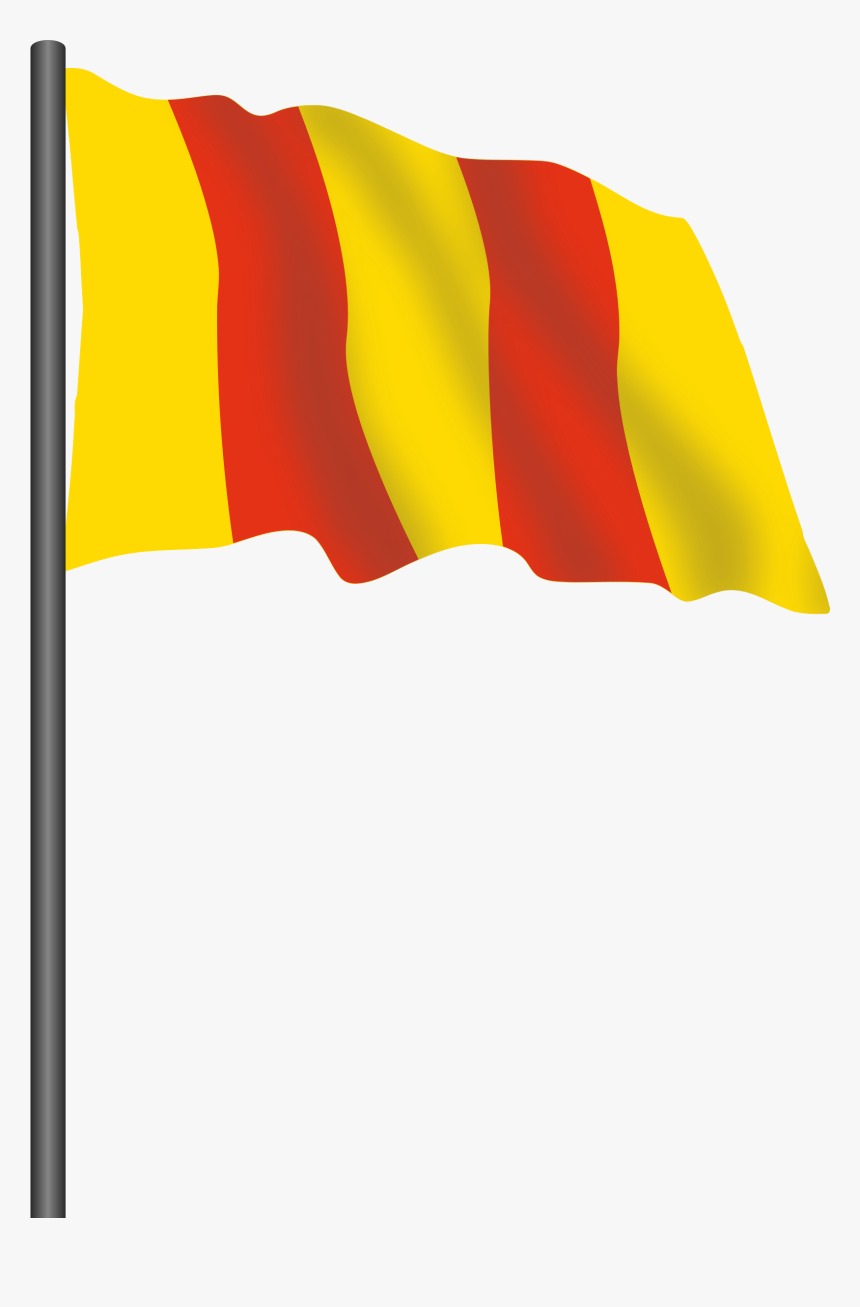 Motor Racing Flag - Red Yellow Flag Png, Transparent Png, Free Download