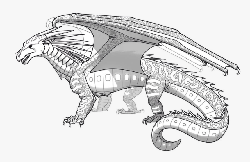 Seawing Wings Of Fire , Png Download - Wings Of Fire Seawing Coloring Pages, Transparent Png, Free Download