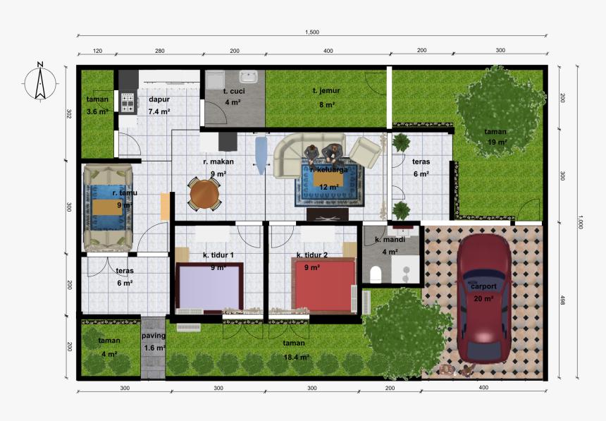 Desain Rumah Minimalis Sederhana 1 Lantai 2 Kamar Tidur Minimalis Rumah 2 Kamar Hd Png Download Kindpng