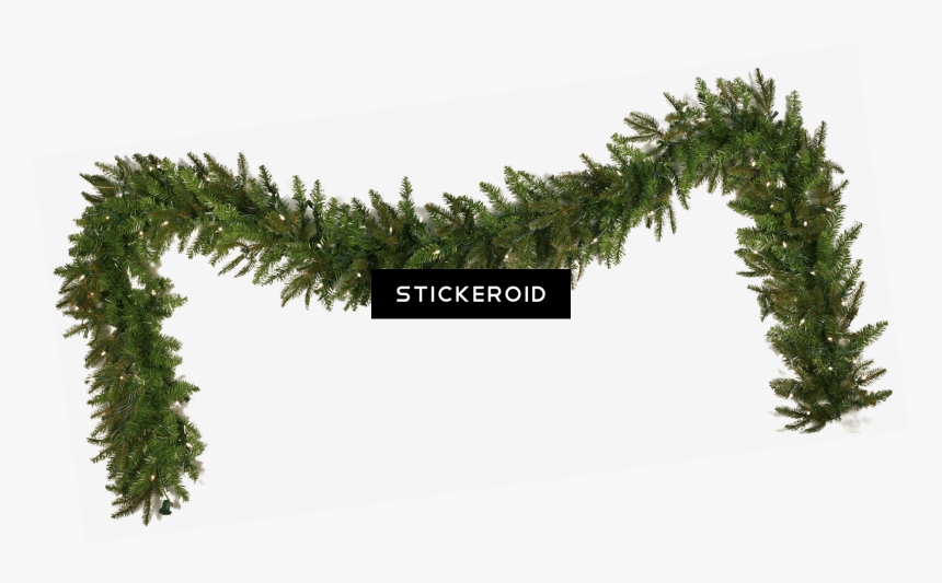 Garland Christmas Simple - Christmas Garland With White Lights Transparent, HD Png Download, Free Download