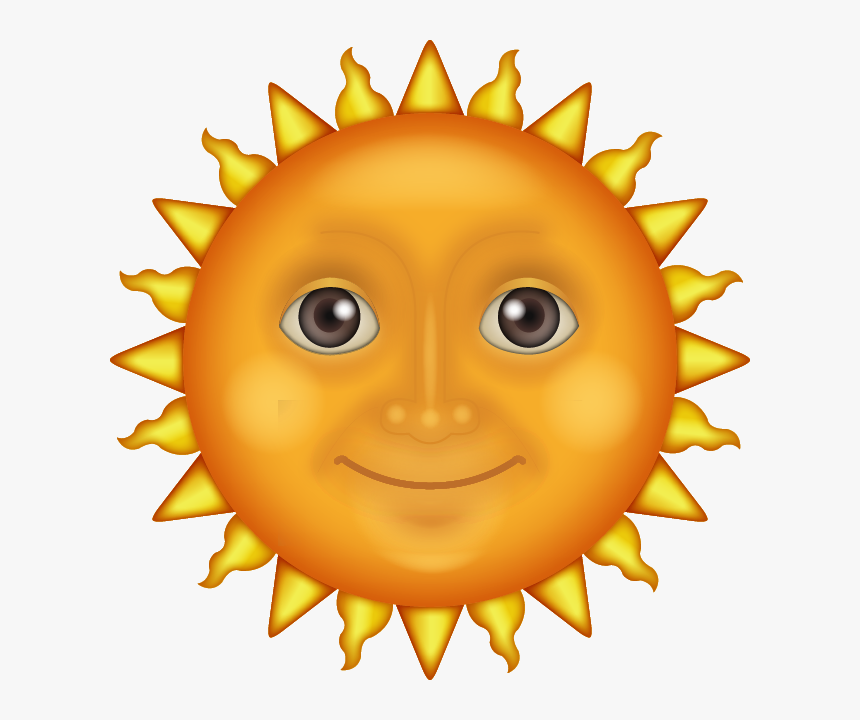 Sun Face Emoji, HD Png Download, Free Download