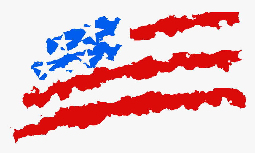 Drawn American Flag Transparent Background - 4th Of July Sticker, HD Png Download, Free Download
