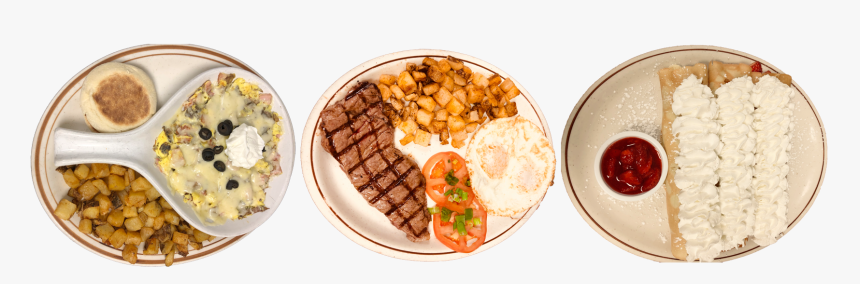 Eggs, Steak, Hashbrowns, And Crepes - Grillades, HD Png Download, Free Download