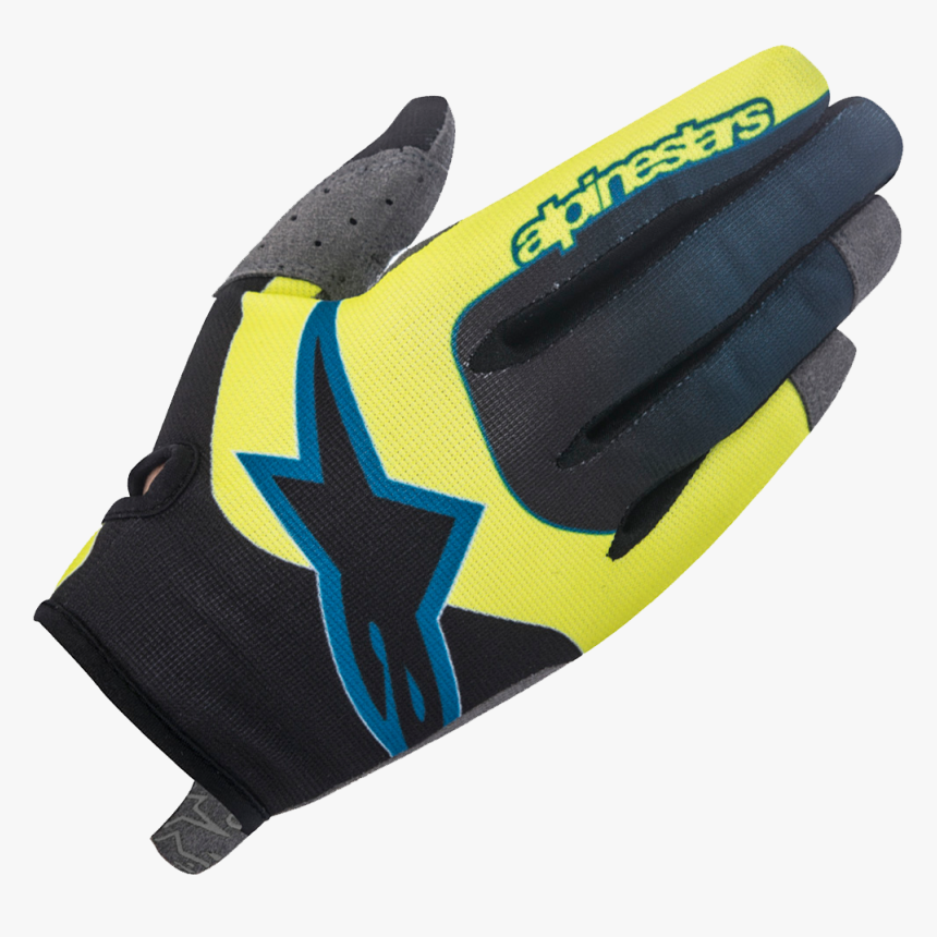 Alpinestars Vector Glove Yellow/black - Leather, HD Png Download, Free Download