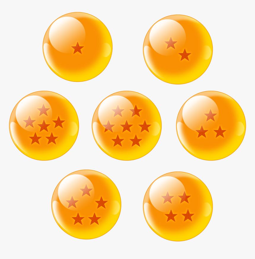 7 Dragon Balls Png - Dragon Ball Z Balls Png, Transparent Png, Free Download