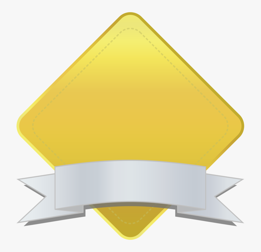 Angle,yellow,triangle - Diamond Banner Png, Transparent Png, Free Download
