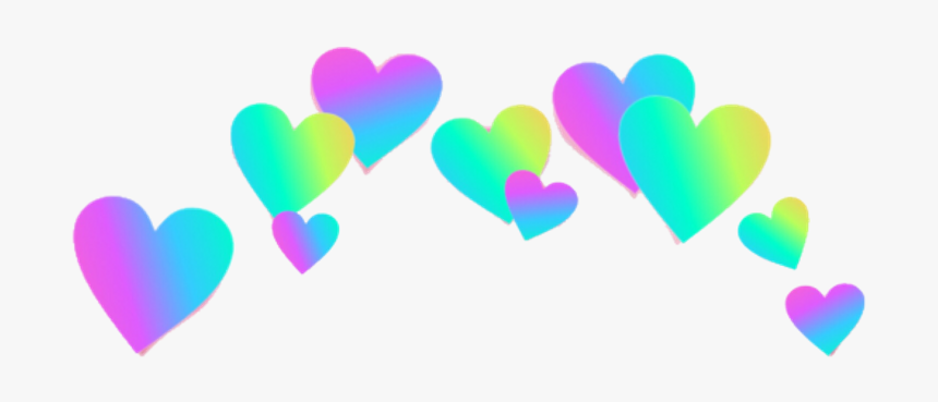Rainbow Hearts Png - Picsart Heart Crown Png, Transparent Png, Free Download