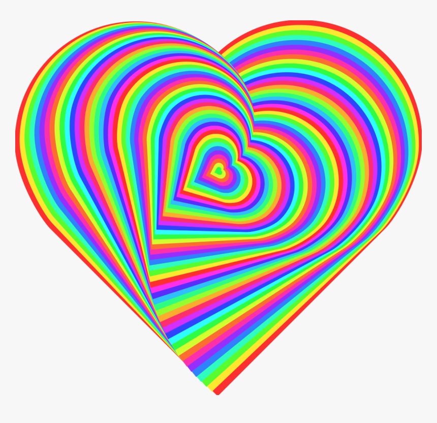 Transparent Rainbow Heart Png - Rainbow Love Heart, Png Download, Free Download