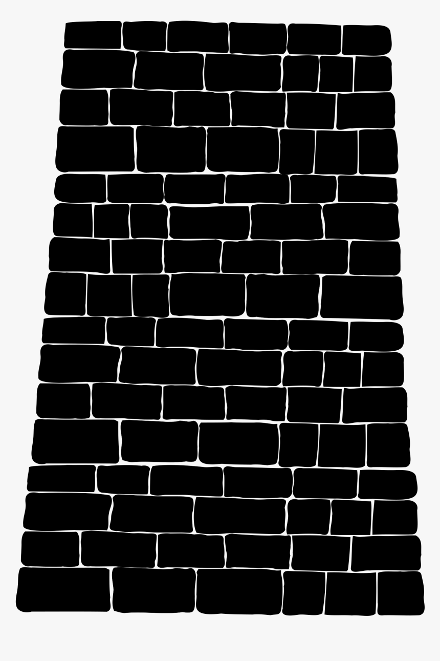Brick Wall Silhouette Png, Transparent Png, Free Download