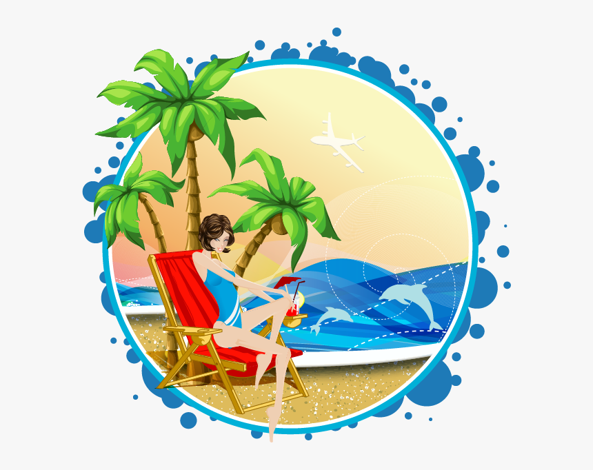 Euclidean Vector Arecaceae Beach Illustration - Palm Tree Vector, HD Png Download, Free Download
