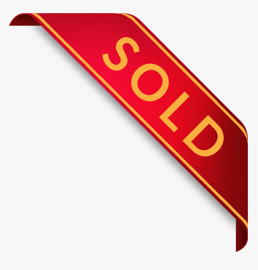 Sold Banner Clip Art - Sold Out Png Gold, Transparent Png, Free Download