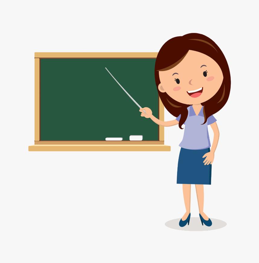Blackboard Teachers Teacher Cartoon Free Photo Png - Teacher Clipart, Transparent Png, Free Download