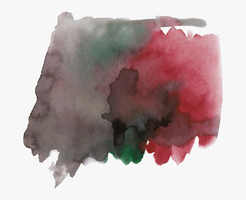 #ftestickers #watercolor #brushstrokes #red #black - Watercolor Paint, HD Png Download, Free Download