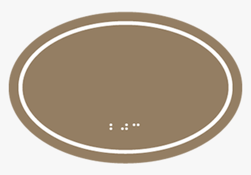Ada Oval Room Number Sign With Border - Green Border Oval Png, Transparent Png, Free Download