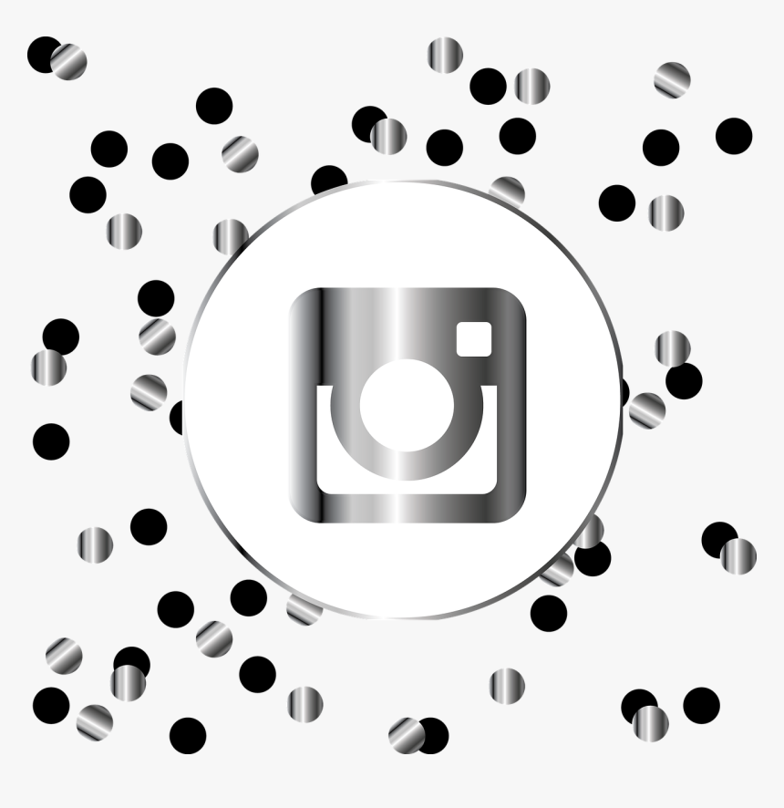 Instagram, Silver, Icon, Symbol, Social Media, Web - Black And Gold Facebook Icon, HD Png Download, Free Download