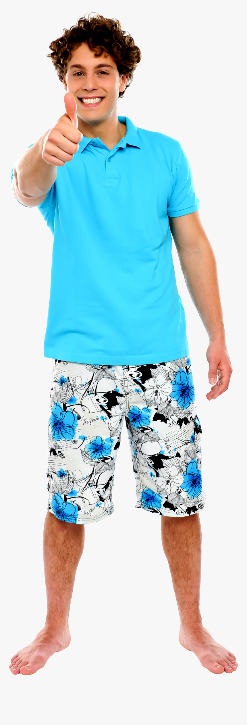 Men Pointing Thumbs Up Png Image - Casual Guy, Transparent Png, Free Download