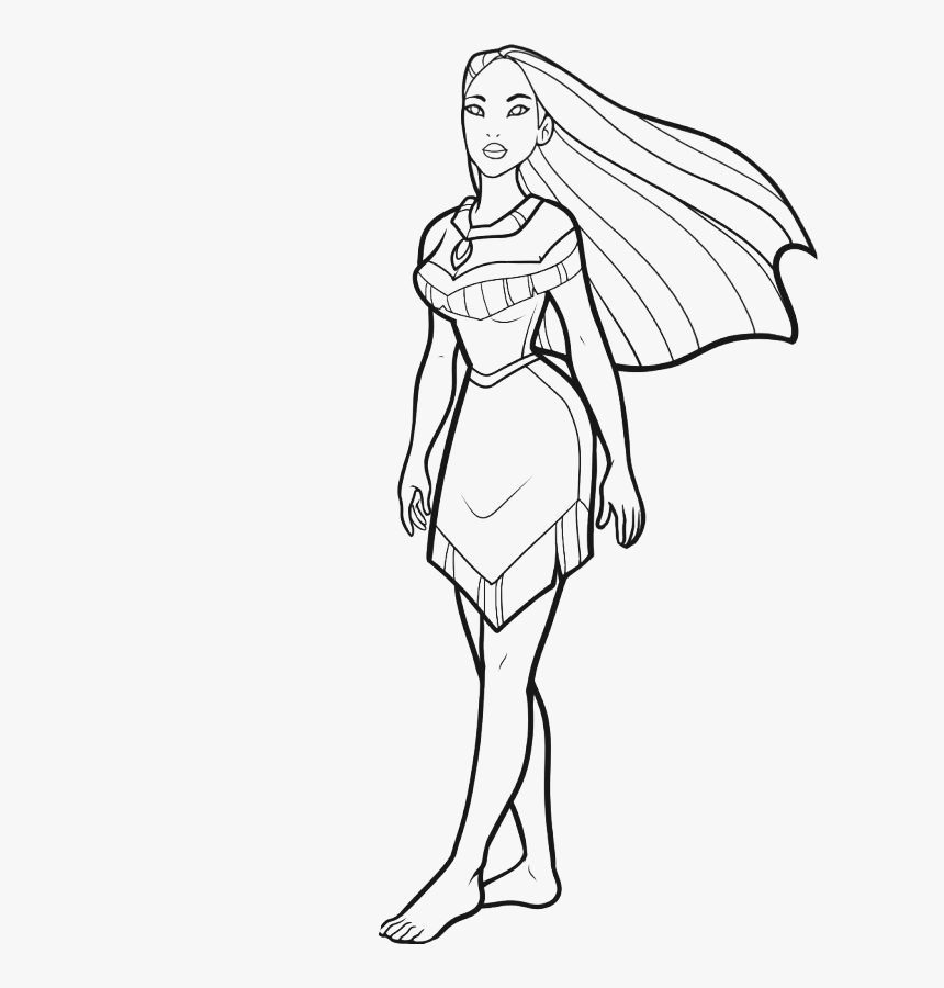 Disney Pocahontas Coloring Pages Disney Coloring Pages - Disney Transparent Coloring Png, Png Download, Free Download