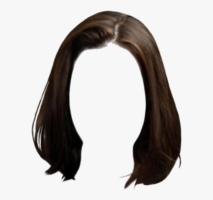 #hair #wig #shorthair #brunette #brown #straighthair - Short Hair Png Girl, Transparent Png, Free Download