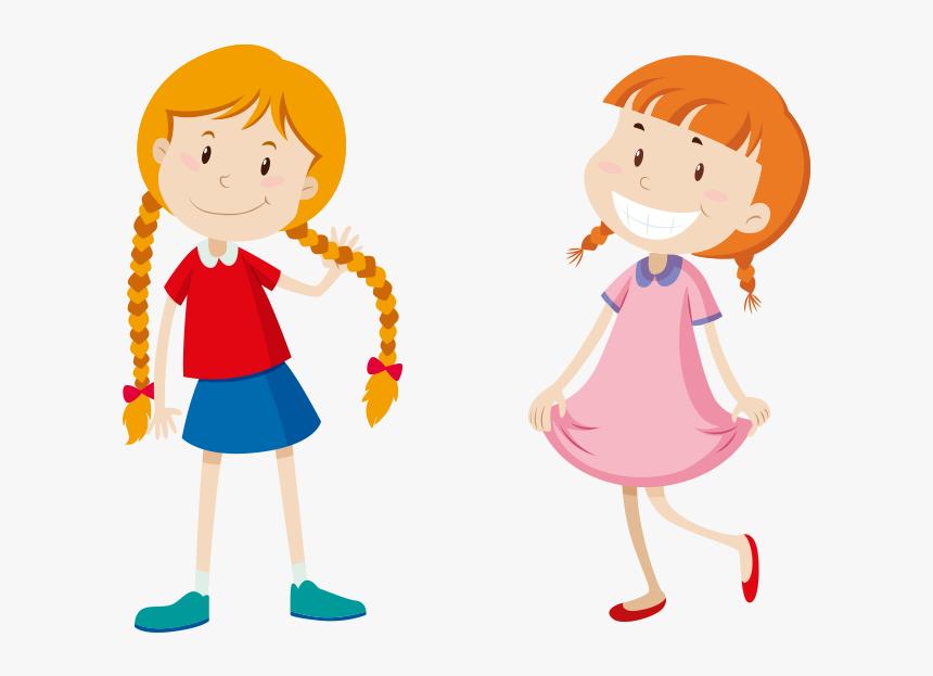 Baby Girl Png Image - Long Short Hair Drawing, Transparent Png, Free Download