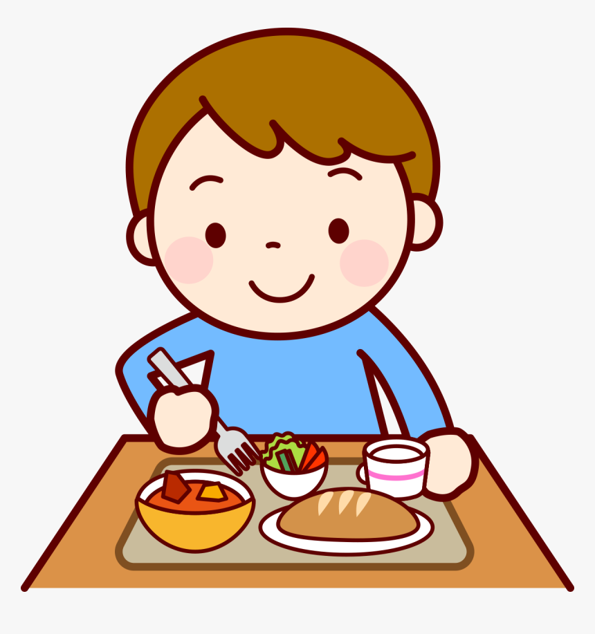 Food Eating Lunch Child Clip Art - Eating Lunch Clipart, HD Png Download -  kindpng