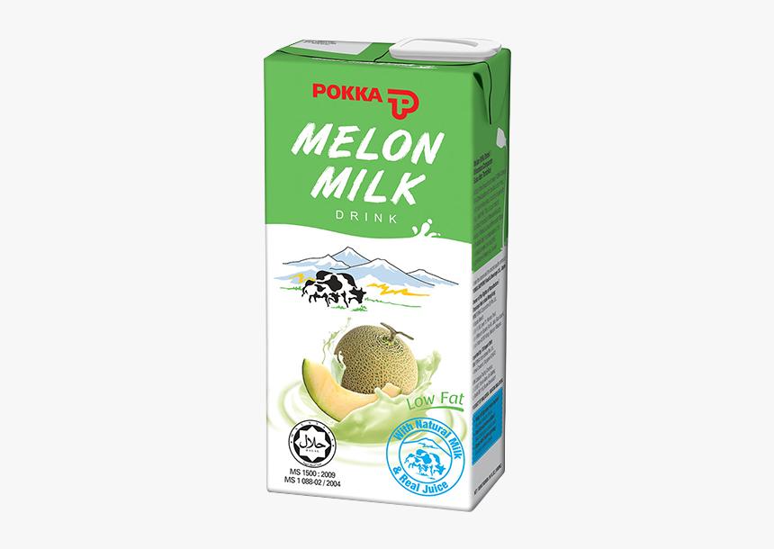 Melon Milk Drink - Pokka Melon Milk 1l, HD Png Download, Free Download