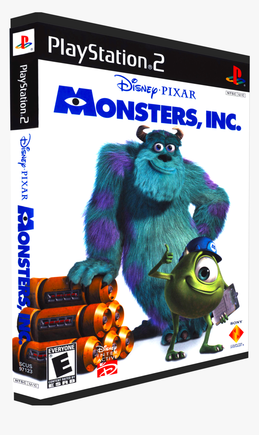 Disney Pixar S Monsters Inc Ps2 Hd Png Download Kindpng